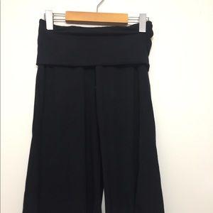 Pants - The Fairies Pyjamas Wide Leg Capri Pants Black